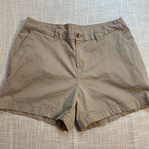 NWT faded Glory Khaki boyfriend shorts